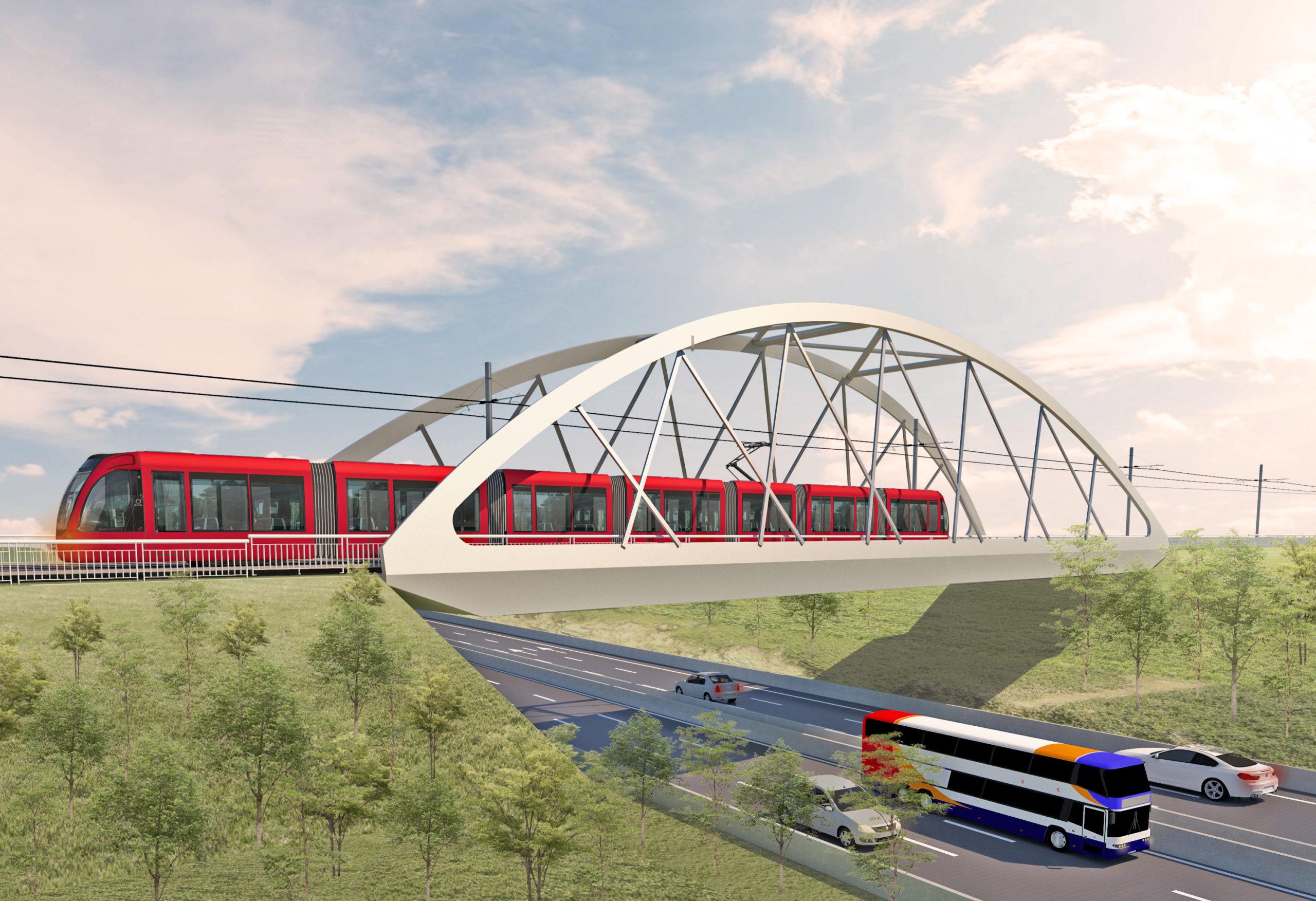Casatramway T4: des mesures de circulation pour le lançage du pont Bow String du Bd Oulad Ziane